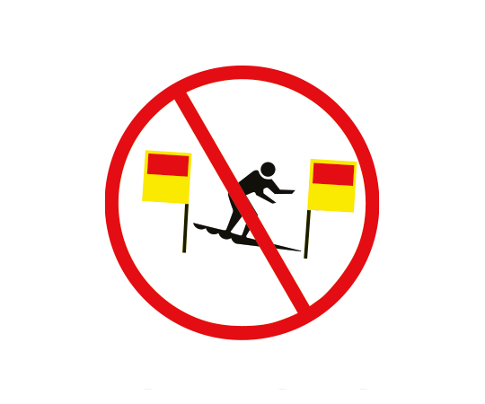 no surfboards between the flags
